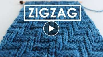 Knit Stitch Pattern zıgzag