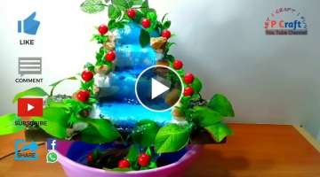 How to make waterfall fountain out of thermocol