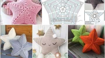 Big Fluffy Star Pillow - Crochet Pattern & Tutorial