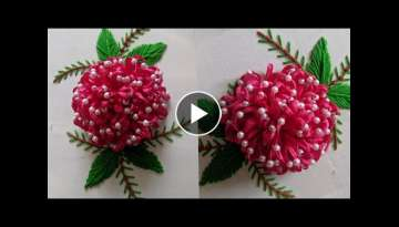Hand Embroidery flower design tutorial