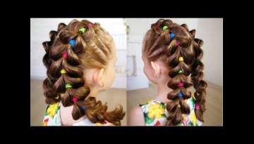 Bright braids! Hairstyle for girl