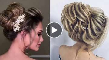 Beautiful Bridal Bun Hairstyles With Puff