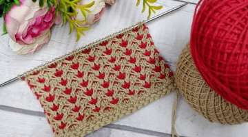 Easy 2 Colours Knitting Pattern