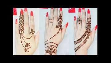 3 Different style Mehndi Designs
