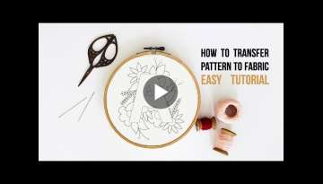 Embroidery pattern to fabric using home printer