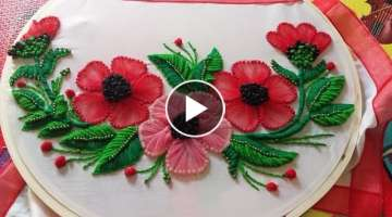 flower embroidery designe