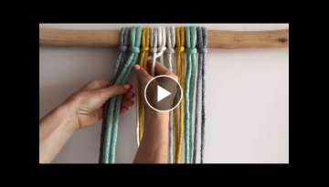 How to weave / continuous weave macrame