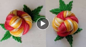 Very Easy & Beautiful flowers design stitch