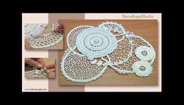 Step by Step Crochet Beautiful Lace and Freeform Composition Tutorial 7 Part 2 of 2